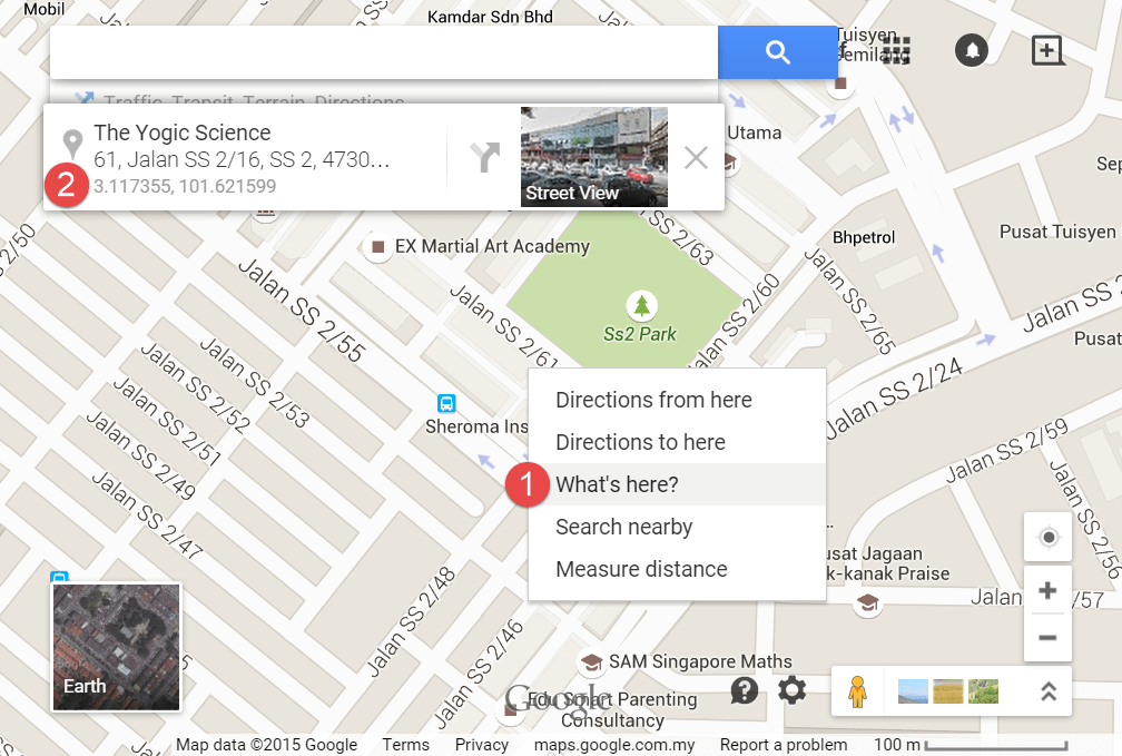 Screenshot of 4 simple steps to get GPS coordinates with Google Maps